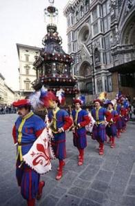 Os Sbandieratori ( portadores da bandeira) de Florença
