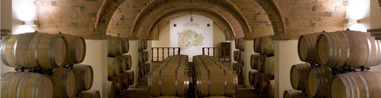 Local do envelhecimento dos vinhos - cantina