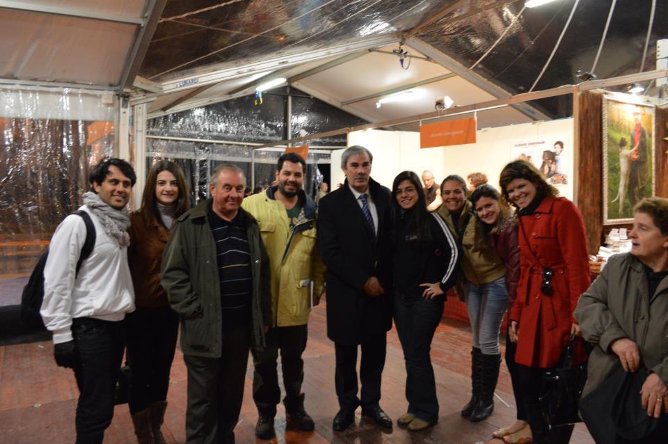 Eu e os estudantes brasileiros recebidos pelo sindaco da cidade (prefeito) Vittorio Gabbanini