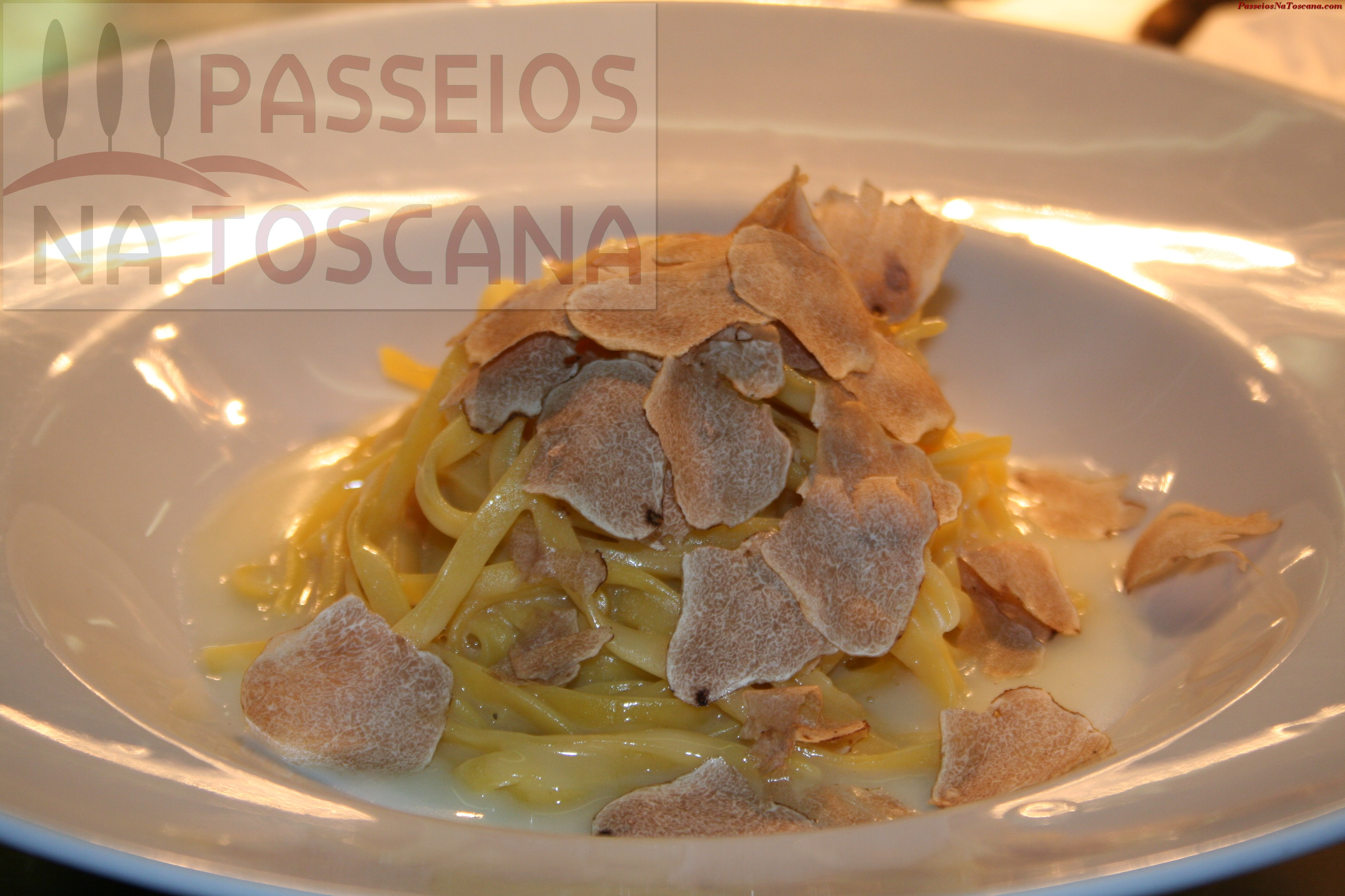 o Tagliolini al Tartufo Bianco de San Miniato do Chef Gilberto Rossi