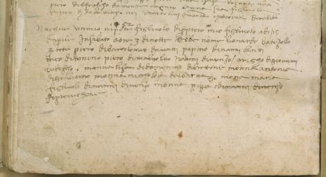 Nascita di Leonardo da Vinci - Certidão de nascimento de Leonardo da Vinci 15 aprile 1452