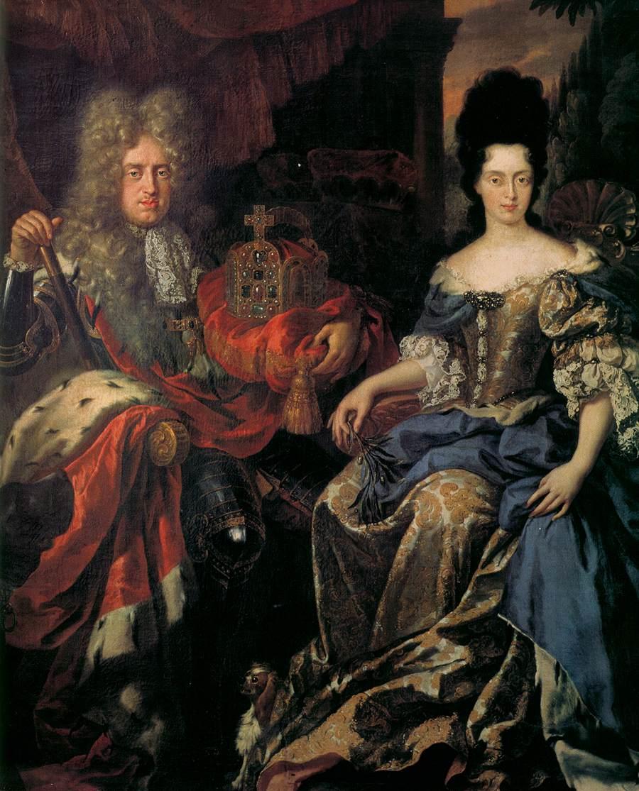 Elector Palatine Johann Wilhelm von Pfalz-Neuburg and Anna Maria Luisa de' Medici - Jan Frans van Doeven