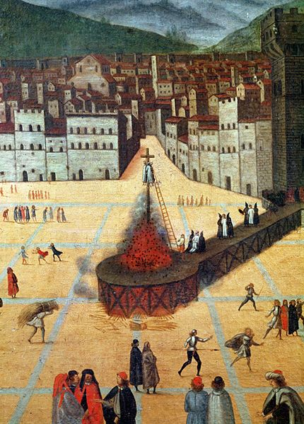Savonarola being burnt at the stake - Anonimo Imagem: Wikipedia Commons