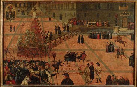 Execuzione di Girolamo Savonarola - Filippo Dolciati - 1519 - Museo di San Marco Imagem: Wikipedia Commons