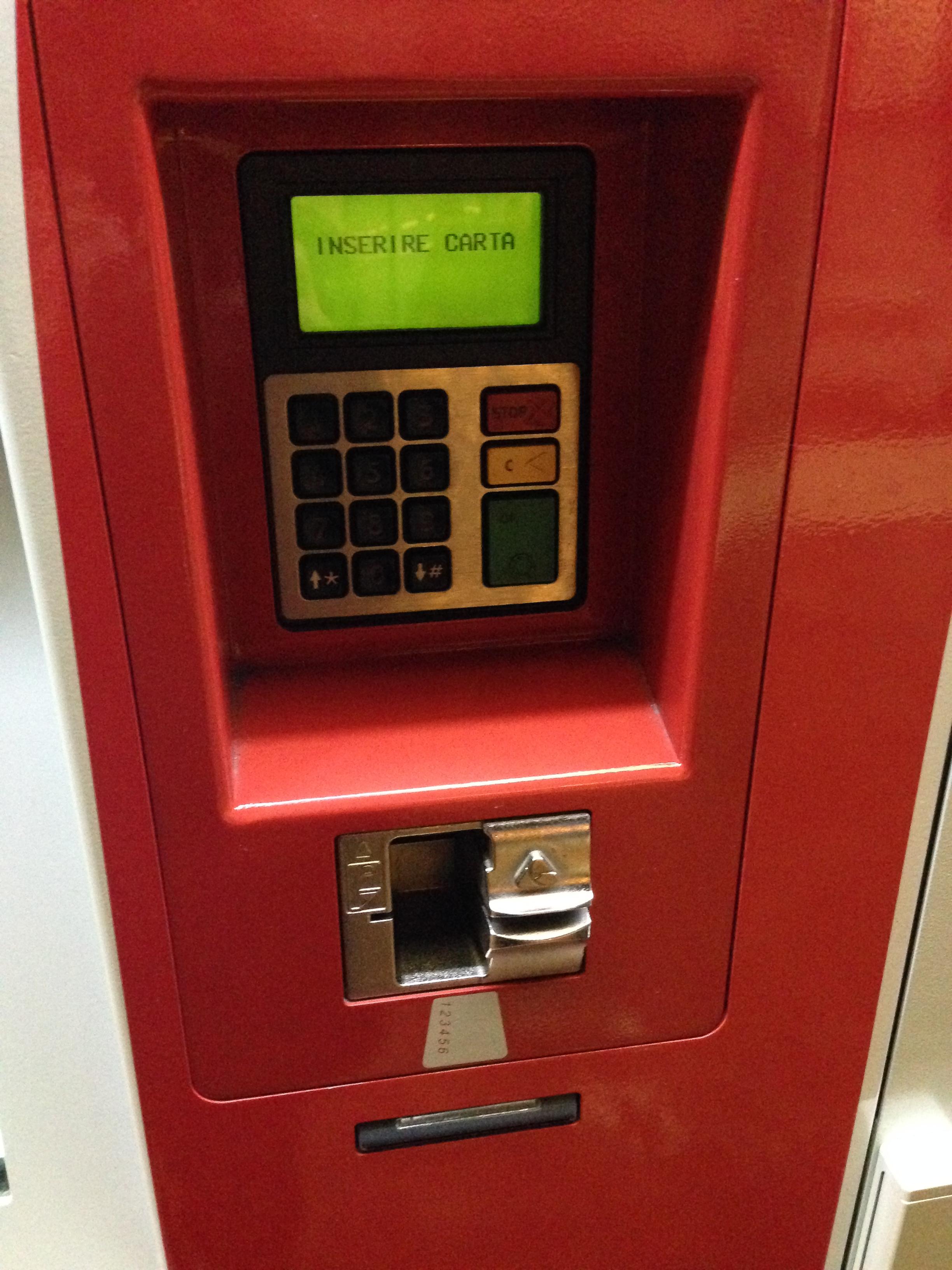 maquina com pagamento com cartão