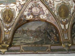"""Cinganelli - """"Pietro Bardi col vescovo acciaiuoli cacciano il Duca di Atene"""""""