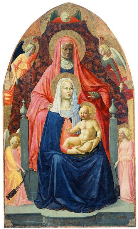 Sant'Anna Metterza, Masolino e Masaccio, Galleria degli Uffizi