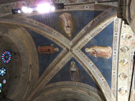 Sant'Anna que abraça a cidade de Florença - primeira imagem abaixo.